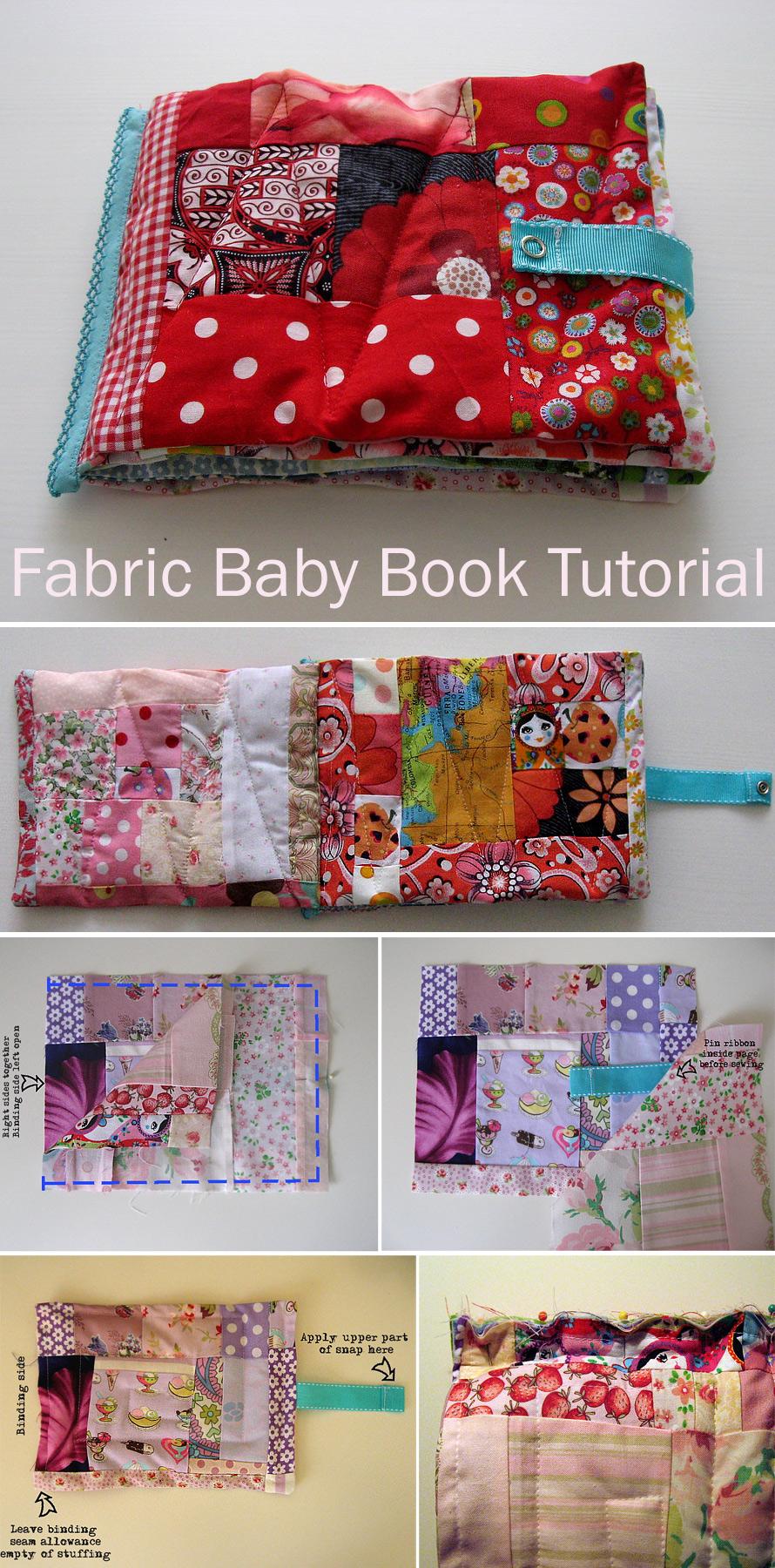Scrap Fabric Baby Book Tutorial