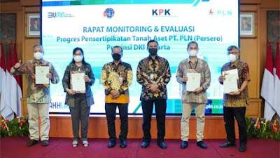 Kolaborasi PLN, ATR/BPN dan KPK Selamatkan Aset Negara Rp 400 Miliar di Jakarta