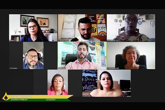 Os Professores defendem melhorias na educação em audiência da CLDF
