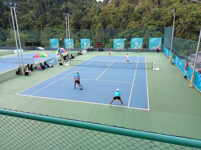 Papua, Jawa Timur, Jakarta dan Jawa Barat Berlaga di Semifinal Tenis Ganda Putri.lelemuku.com.jpg