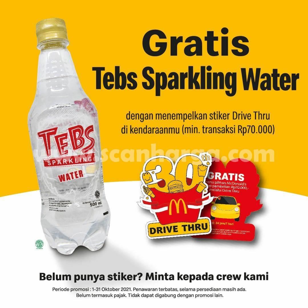 McDonalds Promo Drive Thru Sticker – Dapatkan GRATIS Tebs Sparkling Water