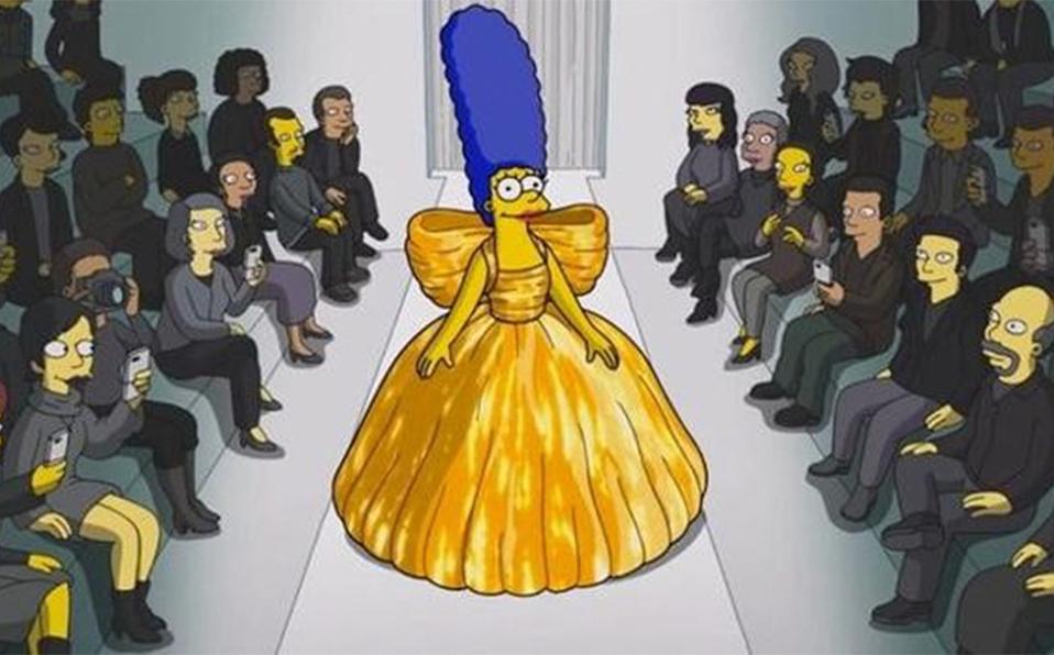 Marge Simpson luce diseños de Balenciaga para un fashion film