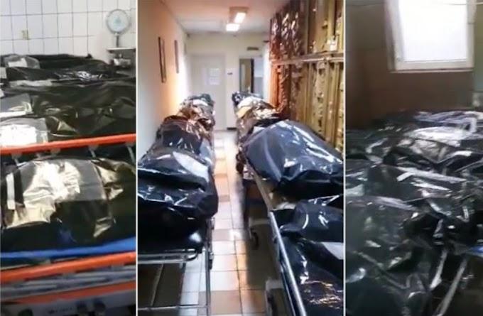 A bukaresti egyetemi kórház hűtőkamrájában már nem férnek a holttestek, így folyosókon tárolják őket