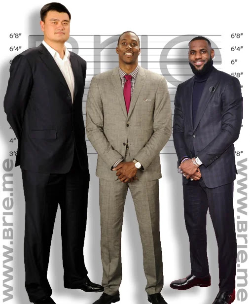 Dwight Howard height comparison with Yao Ming and LeBron James