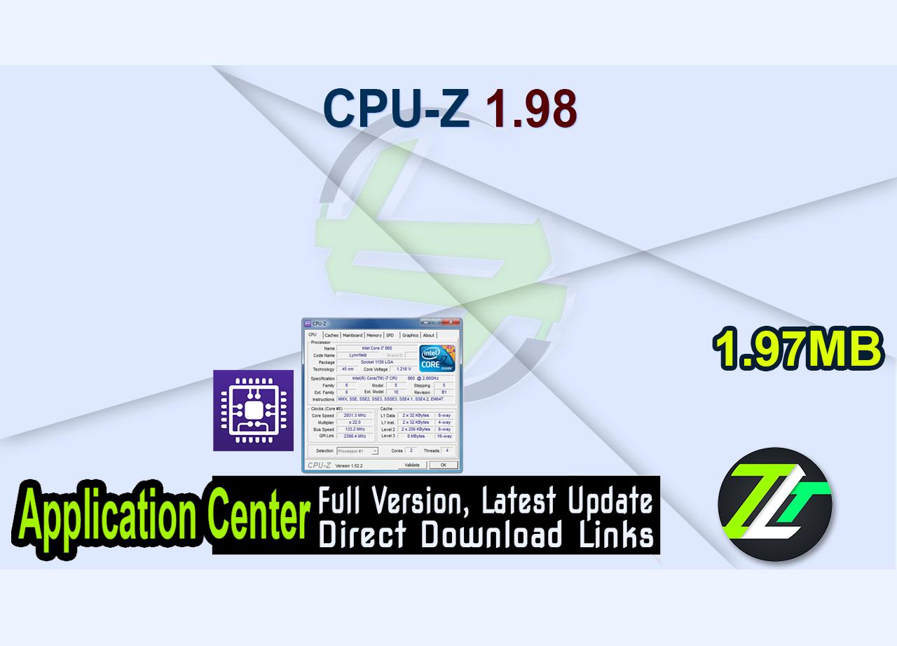 CPU-Z 1.98