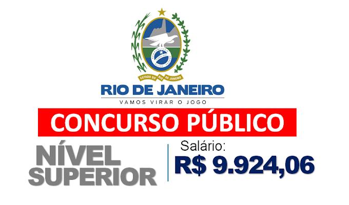 Concurso RJ para candidatos com Nível Superior com Salários de R$6.380,29 a R$9.924,06