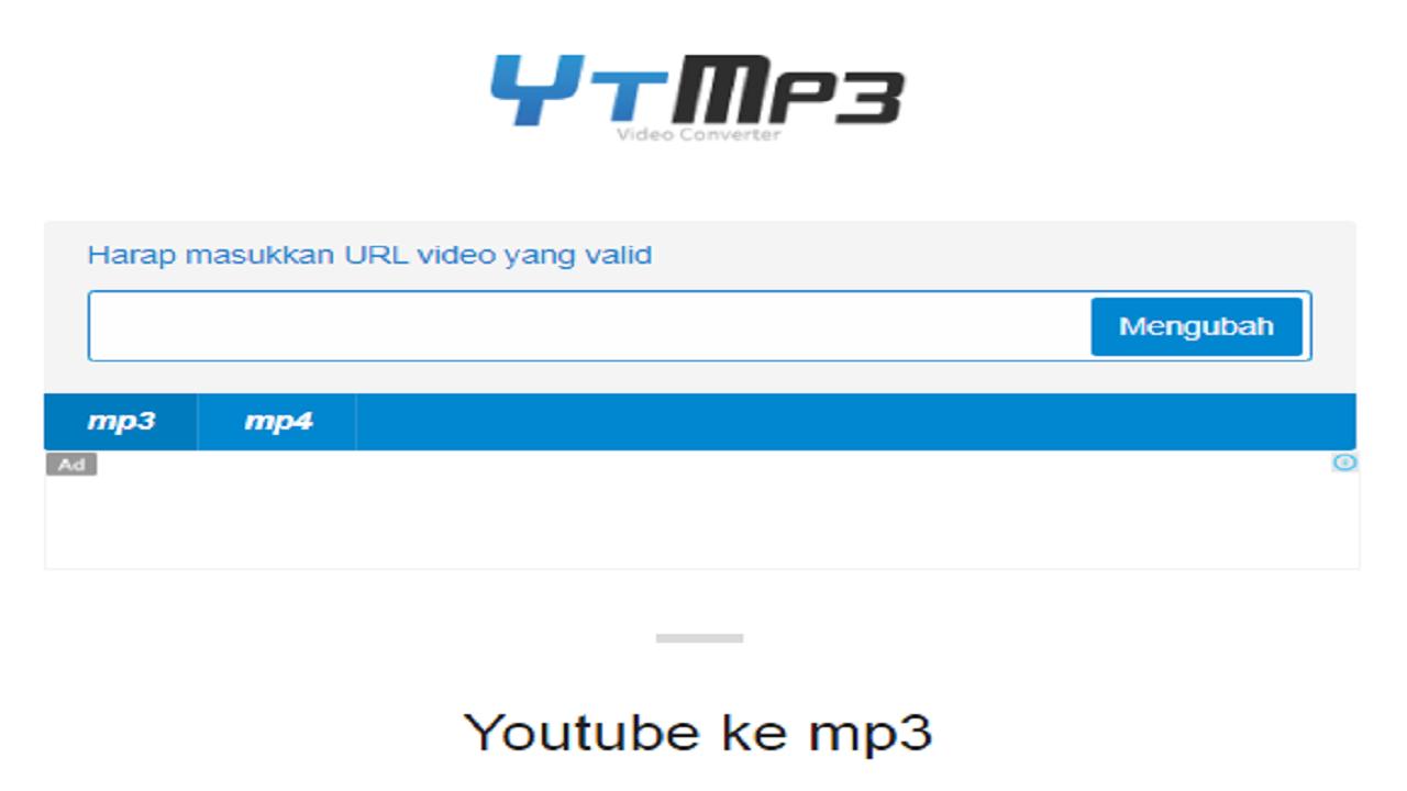Cara download lagu di YouTube MP3 dengan video converter YTMP3