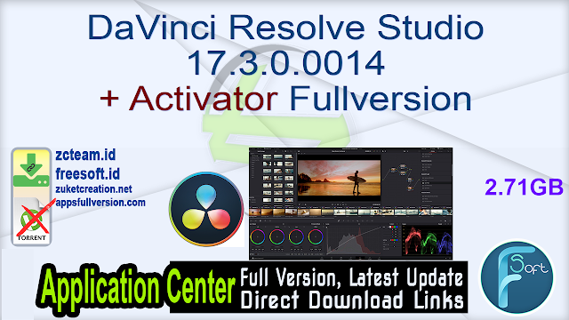 Blackmagic  Design DaVinci Resolve Studio 17.3.0.0014 + Activator Fullversion