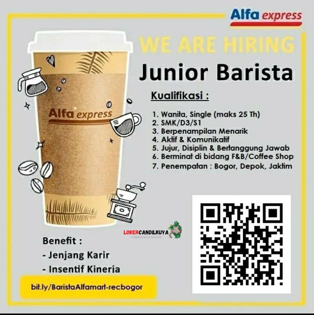Lowonga Kerja Junior Barista Alfa Express