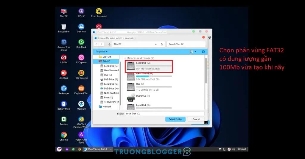 Hướng dẫn cài mới Windows bằng WinNTSetup chuẩn nhất