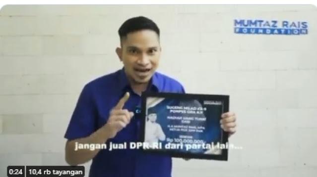 Sumbang Ponpes Gus Miftah Rp100 Juta untuk Pemilu 2024, Mumtaz Rais: Bang Jago Viral Itu Biasa
