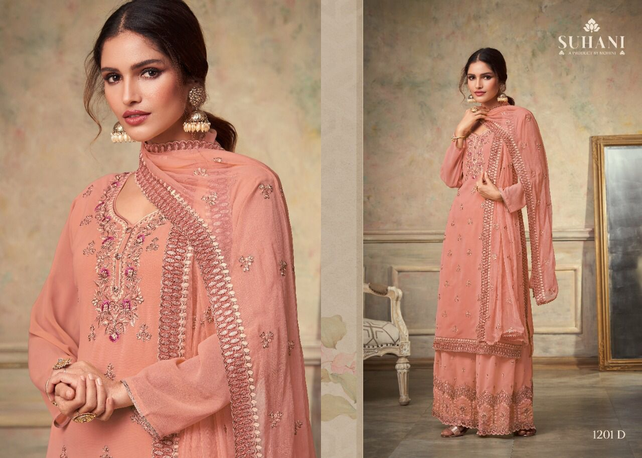 Mohini Fashion Suhani 1201 Sharara Style Suits Catalog Lowest Price