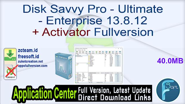 Disk Savvy Pro – Ultimate – Enterprise 13.8.12 + Activator Fullversion
