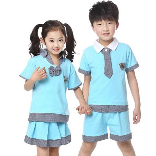 20 mẫu đồng phục mầm non xinh xắn thun cotton mặc mát suốt ngày