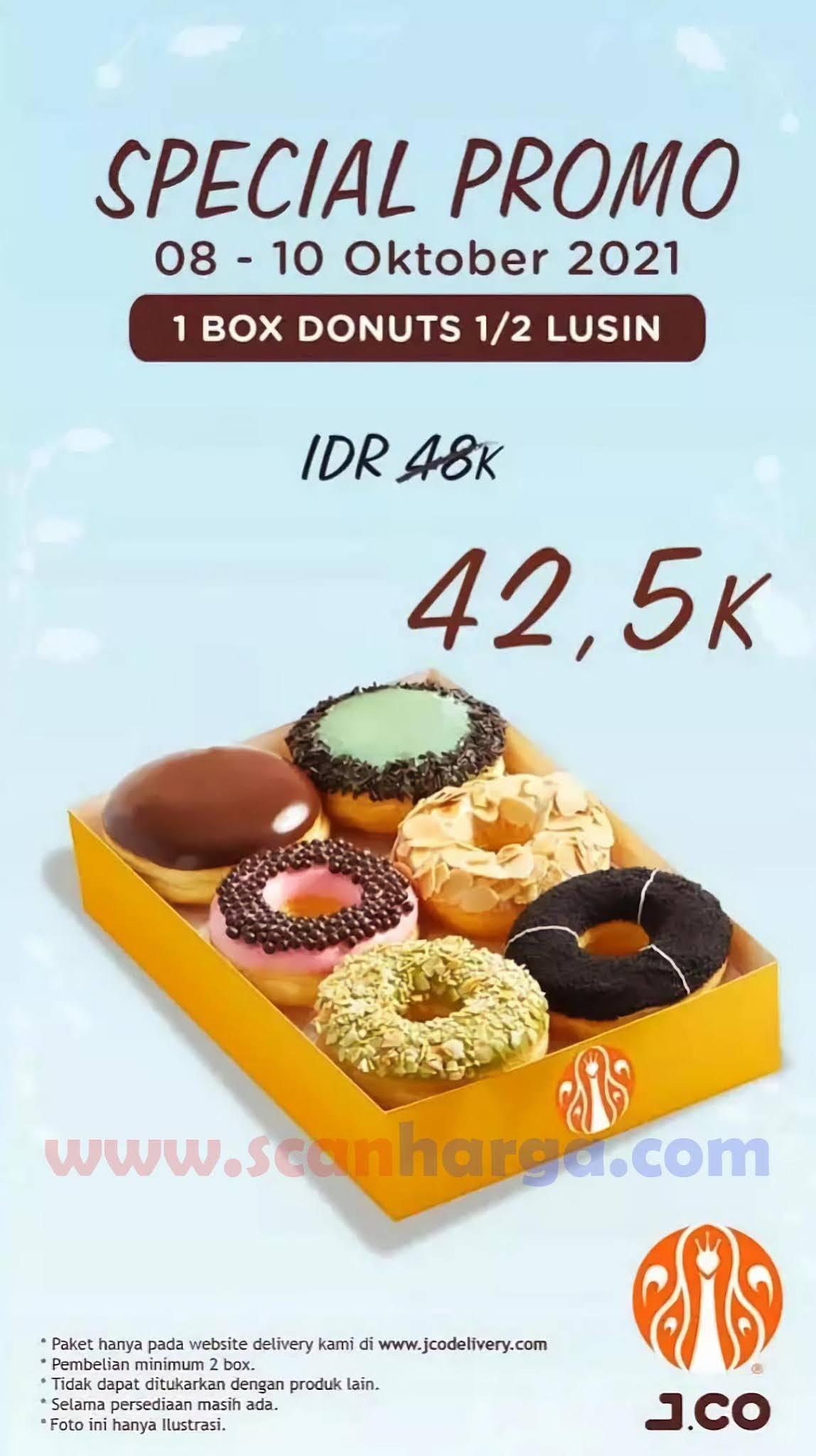 JCO SPECIAL PROMO | Beli 1 box donuts 1/2 lusin hanya Rp 42.500