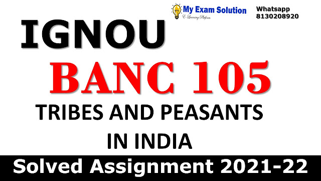 BANC 105 Solved Assignment 2021-22