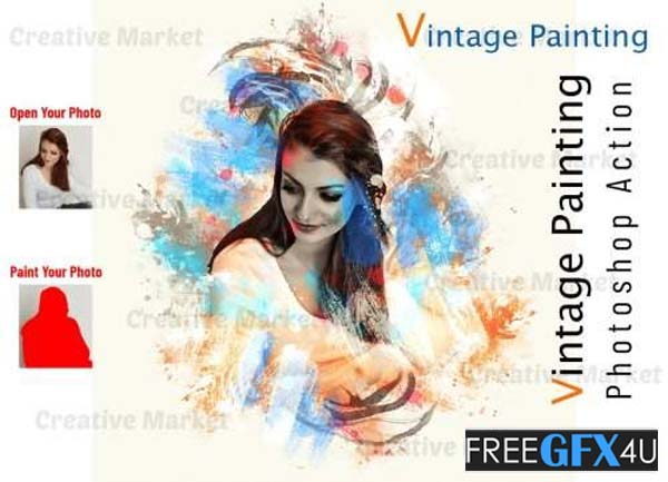 Vintage Painting Photoshop Action
