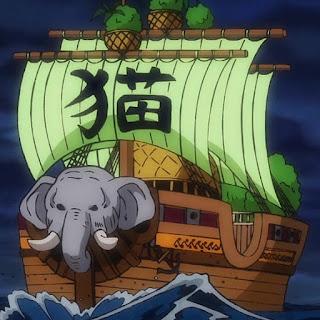 ワンピースアニメ ワノ国編 | ONE PIECE ミンク族 ネコマムシ 船 | NEKOMAMUSHI