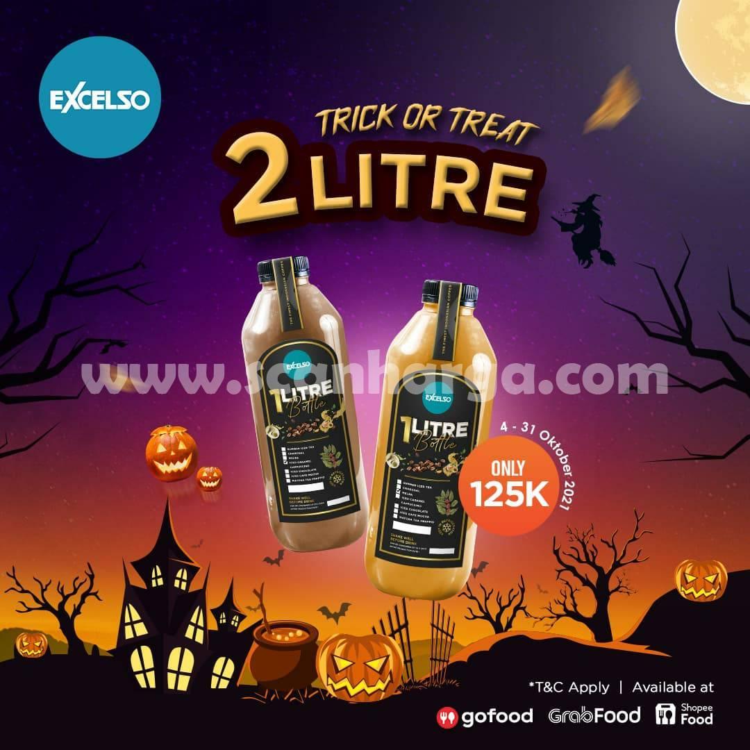EXCELSO Promo TRICK OR TREAT – Beli 2 Minuman 1 Liter cuma Rp 125.000