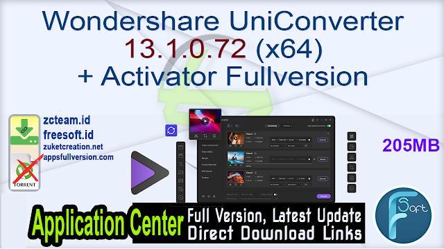 Wondershare UniConverter 13.1.0.72 (x64) + Activator Fullversion