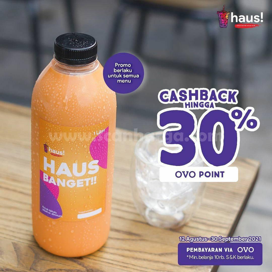 HAUS! Promo CASHBACK 30% khusus transaksi pakai OVO