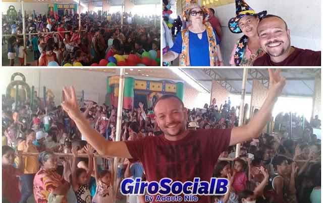 Caminhando de braços dados com a Ação Social de Buíque,  Conselheiro Tutelar participa da festa antecipada do dia das crianças em Buíque