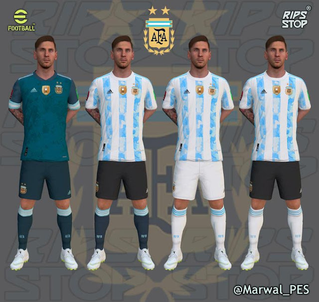 Argentina Qualifiers Qatar 2022 Kits For eFootball PES 2021