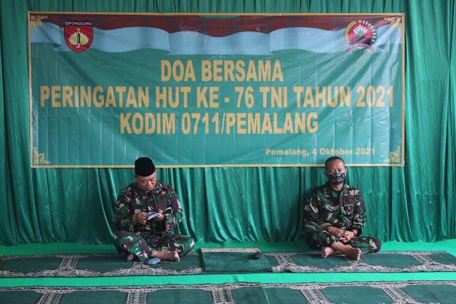 Kodim Pemalang Rayakan HUT TNI ke 76 Dengan Doa Bersama