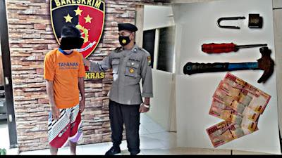 1 Pencuri Telur 8 Kwintal Ditangkap Unit Reskrim Polsek Kras, 1 DPO