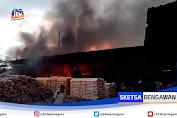 Pabrik Triplek Di Blitar Ludes Terbakar