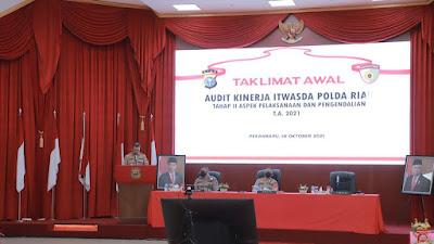 Kapolda Riau Buka Audit Kinerja Tahap II, Polda Riau Semakin Baik & Berkualitas