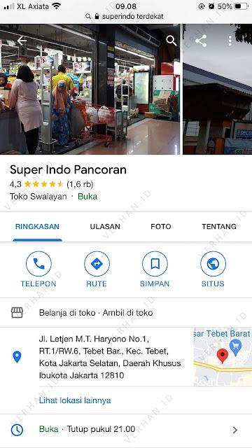 supermarket superindo terdekat buka