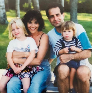 Childhood picture of Josie Lynn Shalhoub with her parents & sibling