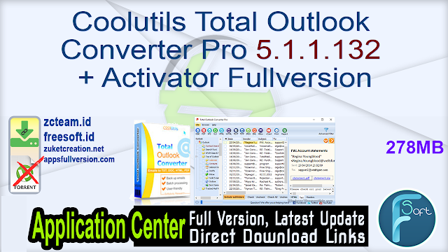 Coolutils Total Outlook Converter Pro 5.1.1.132 + Activator Fullversion