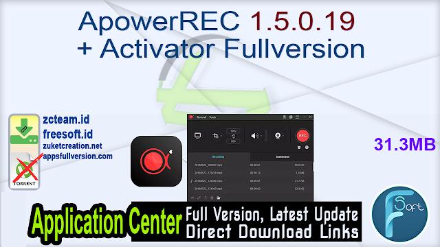 ApowerREC 1.5.0.19 + Activator Fullversion