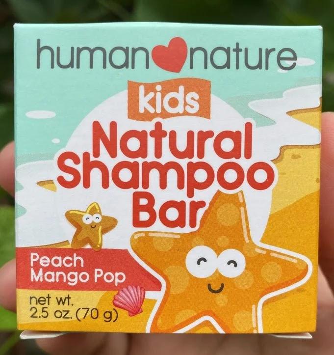 A package of Human Nature Kids Natural Shampoo Bar