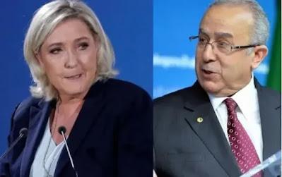 الجزائر…مارين لوبان تردّ الصاع صاعين لكابرانات فرنسا