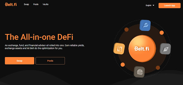 Screenshot Website Belt Finance (BELT)