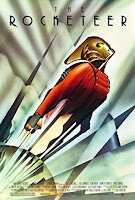 art deco style poster of the rocketeer