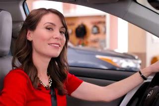 Bobby Mort's wife Laurel Coppock inside the car