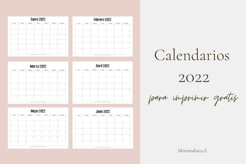 Calendario por meses 2022