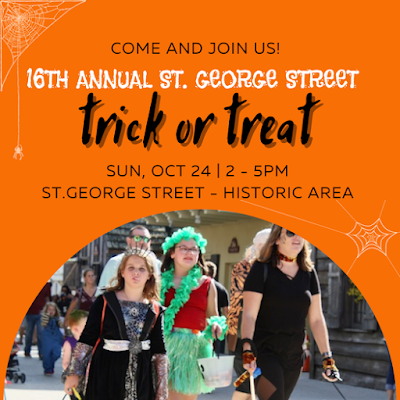 St. George Street Trick or Treat in St. Augustine Florida