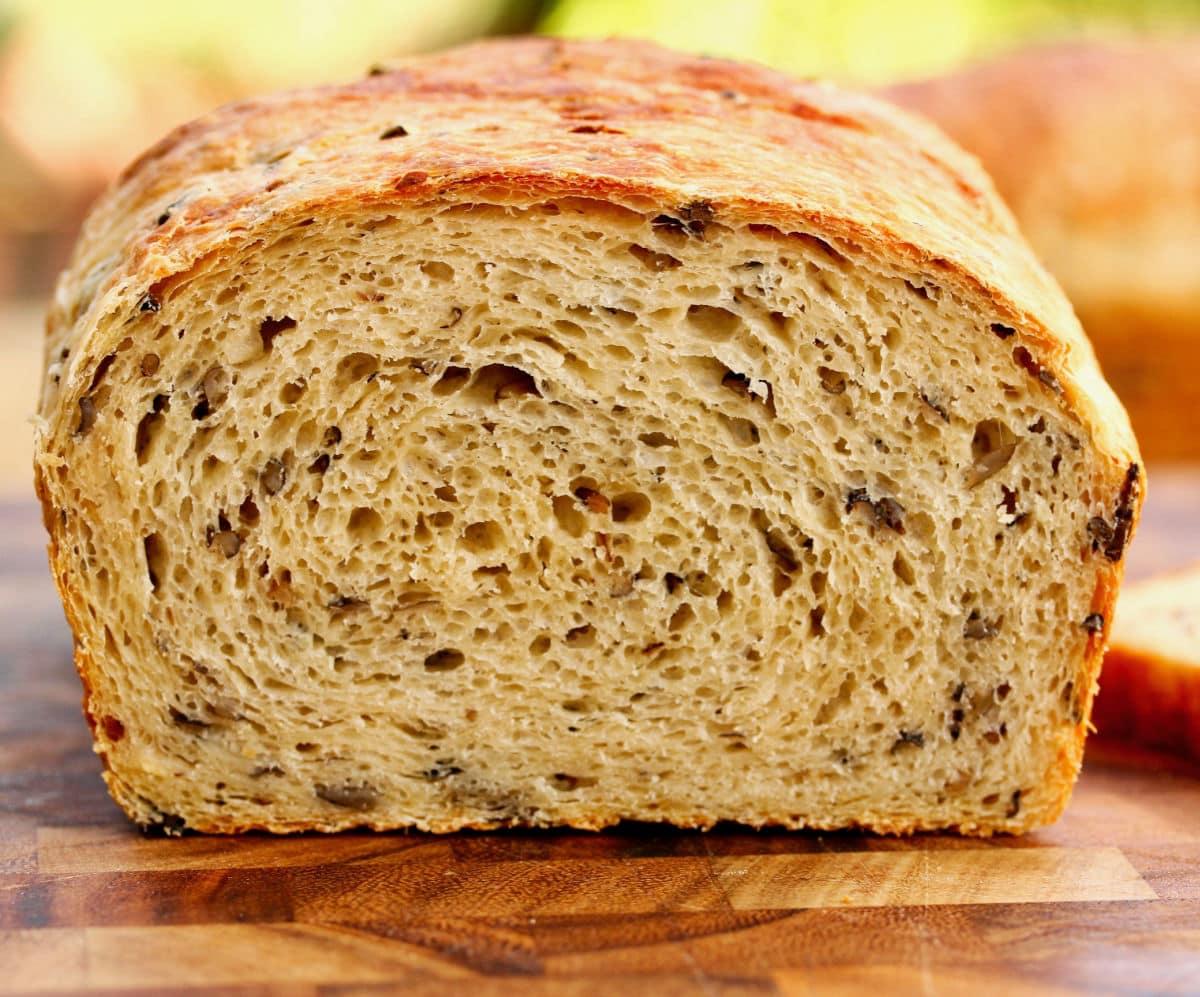 Wild Rice and Onion Bread crumb.