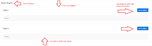 How to Flip Region in Oracle APEX