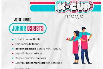 Loker Bandung Junior Barista K-Cup Manja