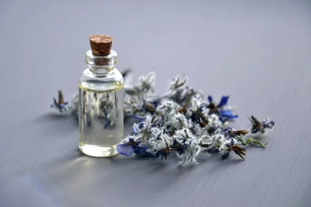 A vial of essential oils for aromatherapy
