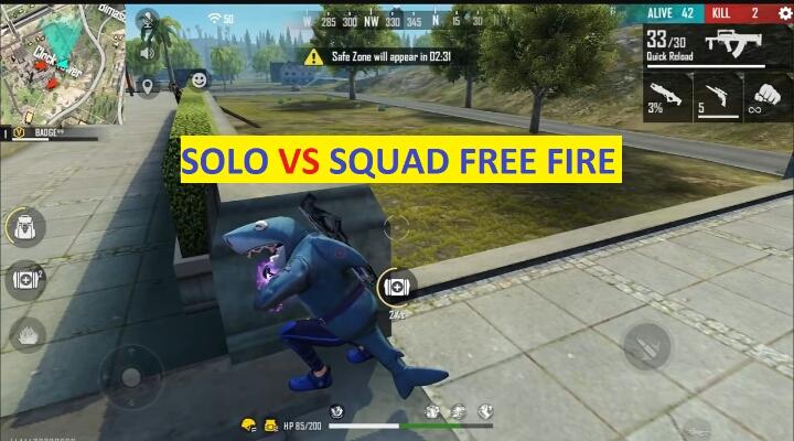 Solo vs Squad free fire