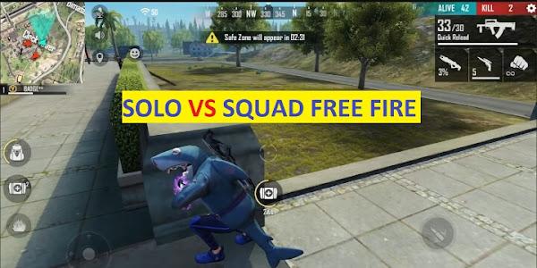 Tips Bermain Solo VS Squad Free Fire