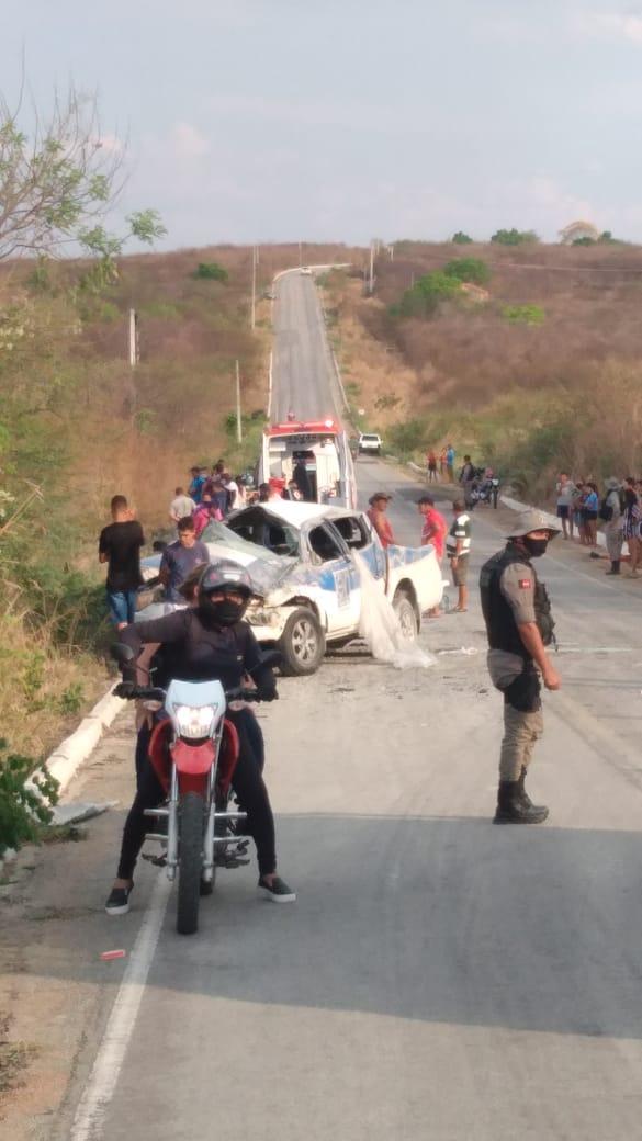Acidente com camionete do DER deixa dois mortos entre Monte Horebe e Bonito de Santa Fé