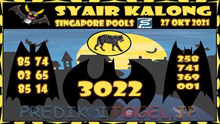 Syair Kalong Togel Singapura Rabu 27-10-2021
